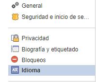 Langues Facebook