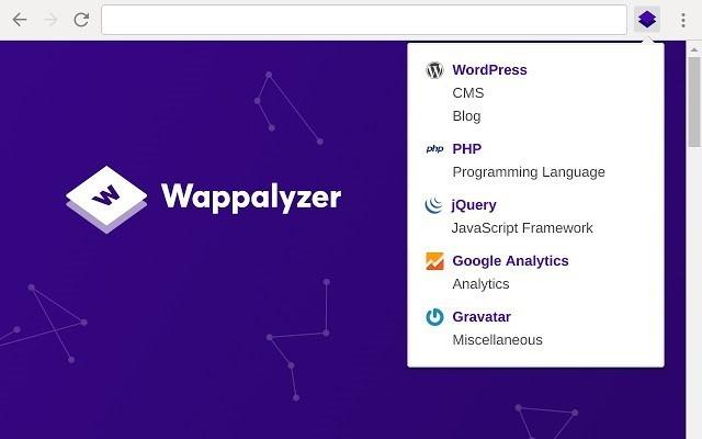comment trouver des cms d'un site Web Wappalyzer