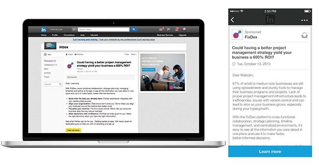 InMails Patrocinados - LinkedinADS publicidad
