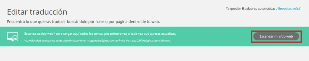 crear traduccion web automatica rapido