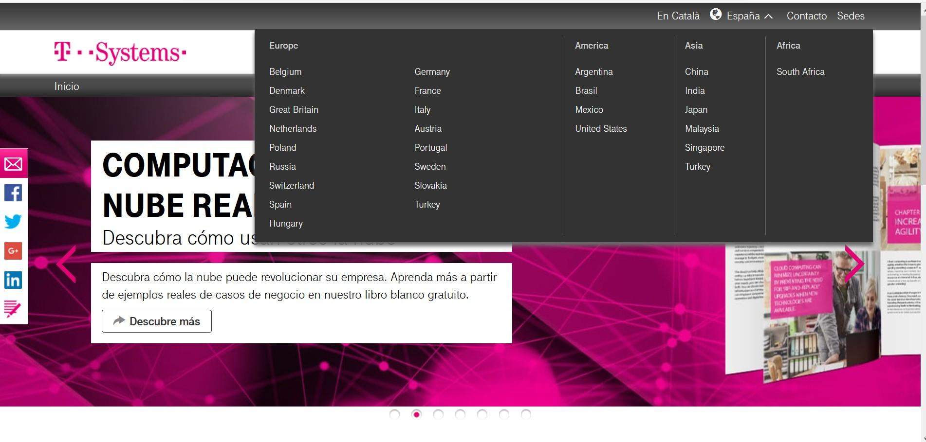 T-SYSTEMS confía en AT para traducir su web
